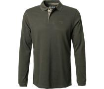 Polo-Shirt Polo Baumwoll-Pique dunkelgrün