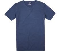 T-Shirt Body Fit Baumwolle marine