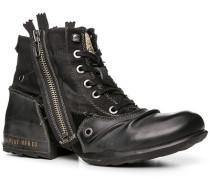 Herren Schuhe Stiefelette Textil-Leder-Mix schwarz schwarz,schwarz