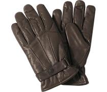 Barbour Herren  Handschuhe Nappaleder dunkelbraun