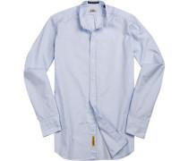 Hemd Regular Fit Baumwolle bleu meliert