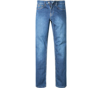 Herren Bluejeans Classic Comfort Fit Baumwolle jeansblau