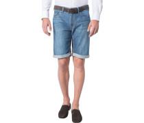Herren Jeansshorts Modern Fit Baumwoll-Stretch denim blau