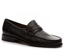 Herren Schuhe Mokassins Nappaleder schwarz