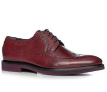 Schuhe Budapester Kalbleder dunkelrot