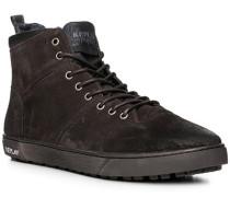 Schuhe Sneaker, Veloursleder, schwarz-