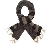 Schal, Wolle, -schwarz gestreift