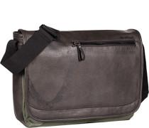 Herren Tasche strellson Messenger Bag Kunstleder dunkelbraun
