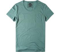 T-Shirt Slim Fit Baumwolle meliert
