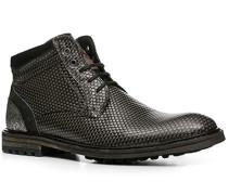 Herren Schuhe Stiefeletten Kalbleder grau gemustert grau,schwarz