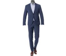 Anzug, Super Slim, Woll-Stretch, navy