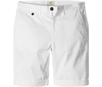 Herren Hose Bermudas Regular Fit Baumwoll-Stretch weiß