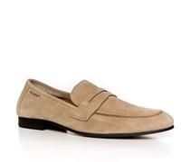 Herren Schuhe Loafers Veloursleder beige beige,braun