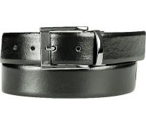Gürtel schwarz-dunkelbraun Breite ca. 3,5 cm