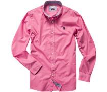 Herren Hemd Slim Fit Fil à Fil pink rosa