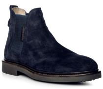 Schuhe Chelsea-Boots Veloursleder geölt navy