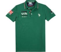 Polo-Shirt Polo Baumwoll-Piqué moosgrün
