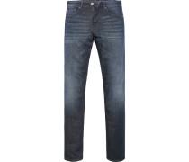 Herren Blue-Jeans Modern Fit Baumwoll-Mix blau