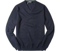 Herren Pullover Baumwoll-Mix nachtblau
