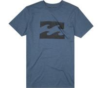 T-Shirt Core Fit Baumwolle azurblau