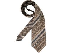 Herren Krawatte  braun
