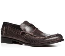 Herren Schuhe Pennyloafers Leder anthrazit grau,grau