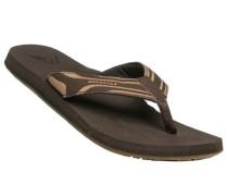Schuhe Zehensandalen, Leder-Textil,