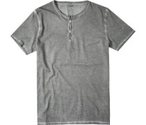 Herren T-Shirt Baumwolle khaki meliert grün