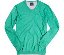 Pullover Seide-Baumwolle maigrün meliert