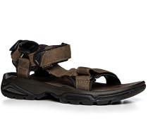 Herren Schuhe Sandalen Leder braun braun,braun
