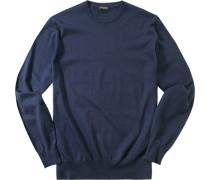 Pullover Pulli Baumwolle-Kaschmir nachtblau