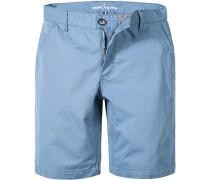 Herren Hose Shorts Baumwolle pastellblau