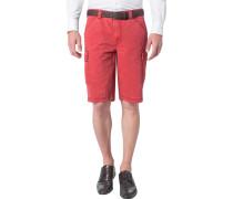 Herren Hose Bermuda Modern Fit Baumwoll-Stretch rot