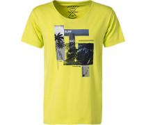 T-Shirts, Baumwolle, leuchtgelb