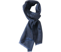 Herren  Schal Wolle blau-schwarz