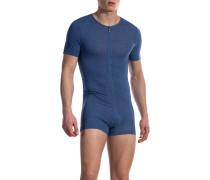 Herren Unterwäsche Body Baumwoll-Stretch denim blau