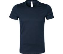Herren T-Shirt Baumwoll-Mix marineblau