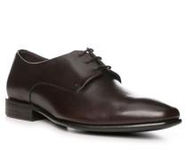 Schuhe Derby, Kalbleder, kaffeebraun