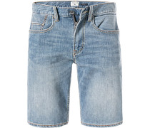 Jeansshorts, Straight Fit, Baumwoll-Stretch
