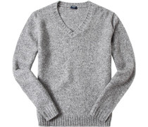 Pullover Wolle hellgrau meliert