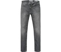 Herren Jeans Modern Fit Baumwoll-Stretch grau