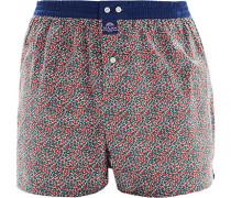 Herren Unterwäsche Boxershorts Baumwolle rot-blau gemustert