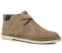 Schuhe Stiefeletten Veloursleder greige