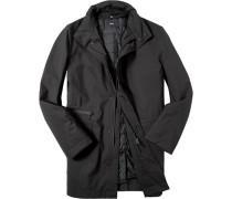 Herren Mantel Microfaser SympaTex® mit Innenjacke schwarz schwarz,schwarz
