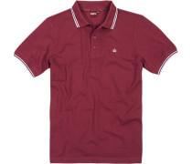 Herren Polo-Shirt Polo Baumwoll-Piqué weinrot