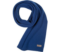 Schal Wolle-Baumwolle königsblau