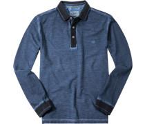 Polo-Shirt Polo Baumwoll-Piqué rauchblau meliert
