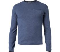Pullover Baumwolle jeansblau meliert