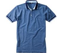Herren Polo Baumwoll-Piqué jeansblau