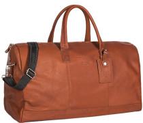 Herren Tasche  Reisetasche Leder cognac orange